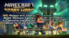 Win Minecraft: Story Mode Season Two & a Samsung Galaxy S2 tablet to play it on! 10 runner-up winners will also get a Minecraft: Story Mode Season Two digital download.