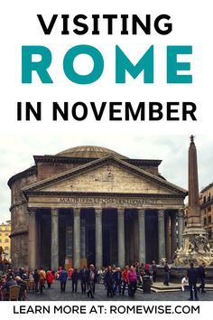 No matter which part of November you visit Rome, always be prepared to be comfortable, and to be flexible in your dress. These are my personal recommendations for what to pack for Rome in November- head to romewise.com to learn more! Rome Travel, Italy Travel, Italy In November, Rome Attractions, Beautiful Places In The World, What To Pack, Trip Planning, Travel Destinations, The Neighbourhood