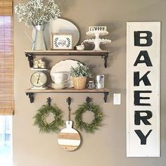 Farmhouse style open shelves in my kitchen. See this Instagram photo by @thedowntownaly • 472 likes