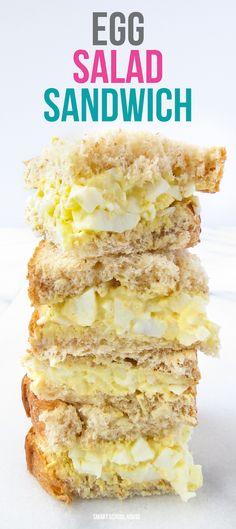 Egg Salad Sandwich. An easy family favorite recipe!