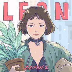 Leon: the professional ART - Mathilda Art And Illustration, Illustrations And Posters, Character Illustration, Graphic Design Illustration, Psychedelic Art, Mathilda Lando, Manga Anime, Anime Art, Ligne Claire