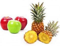 Sumo para emagrecer de abacaxi e maçã