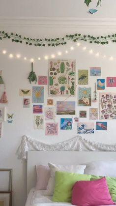 Indie Bedroom, Indie Room Decor, Cute Room Decor, Aesthetic Room Decor, Aesthetic Indie, Room Wall Decor, Room Art, Pastel Room Decor, Pastel Bedroom