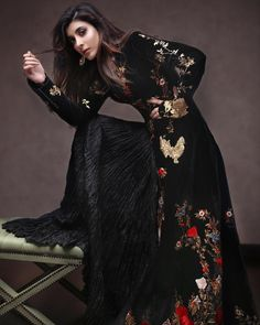 wearing Rohit BaL Shot by for OK Pakistan styled by Pakistani Outfits, Indian Outfits, Eastern Dresses, Indian Look, Ethnic Chic, Pakistan Fashion, Party Wear Dresses, Prettiest Actresses, Elegant Dresses