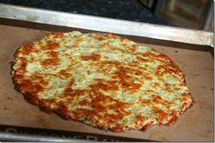 yummmmm cauliflower crust pizza. I just might need to make this again with the cauliflower in the fridge