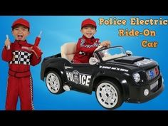 c9ffe8670 Police Car Electric Ride On Toy Unboxing Fun Park Playtime Lightning McQueen  Mechanic Disney Cars