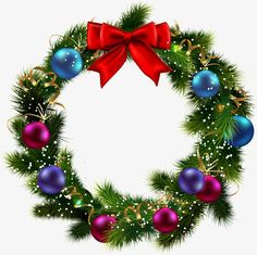 Christmas wreath PNG and Clipart Christmas Lights Clipart, Christmas Card Crafts, Christmas Frames, Christmas Graphics, Christmas Scenes, Very Merry Christmas, Christmas Pictures, Winter Christmas, Christmas Ideas