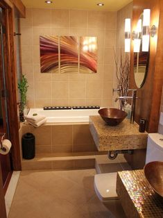 Asian Bathroom Design, Pictures, Remodel, Decor and Ideas - page 12