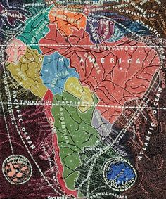 Paula Scher. Painting of and surroundings in the teeniest detail.