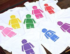Make a lego t for o to wear at her Lego birthday party!
