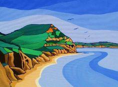 Dorset Coast, Lyme Regis, Jurassic Coast, Local Artists, Christmas Gifts, Artwork, Painting, Cap, Xmas Gifts