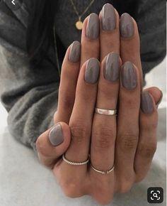 Nails dark grey nail polish gel manicure ideas for women Manicure Colors, Nail Manicure, Manicure Ideas, Manicures, Fall Nail Ideas Gel, Nail Ring, Pedicure, Grey Nail Polish, Nail Polish Colors