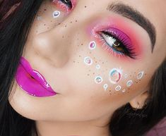 If you could describe this look with an emoji what would it be? . Inspired by @jelly.8erry s face chart and of course sister @jamescharles I saw those bubbles and just felt like they needed to be freckles  . . @limecrimemakeup Utopia Liquid Lipstick Diamond Dew & Plushies Eyeshadow Quads @urbandecaycosmetics Liquid Liner in Bump & Deep End Liner Pencil @anastasiabeverlyhills Dipbrow in Ebony for Brows & Freckles @houseoflashes Juliette Lashes @toofaced Born This Way Foundation in Nude and… Liquid Liner, Liquid Lipstick, Brows, Lashes, Born This Way, Making Faces, Freckles, Makeup Inspiration, Emoji