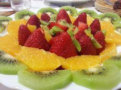 Maduixa, taronja, kiwi