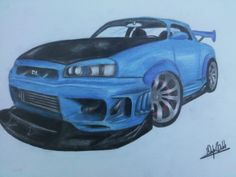 Drawing a car
