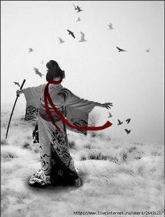 Winter and katana