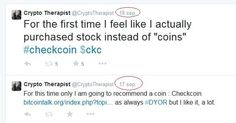 Crypto Therapist @CryptoTherapist Please excuse the self indulgence, but I saw this coming. And we're just getting started $ckc #checkcoin