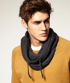 Knitted Men's Snood pattern inspiration
