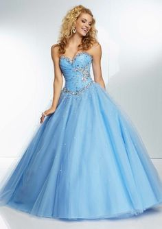 Stock Beaded Sweetheart Long Evening Dress Prom Ball Gown Quinceanera Prom Dress #Handmade #BallGown