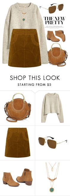 """""""Memories"""" by smartbuyglasses ❤ liked on Polyvore featuring Chloé, See by Chloé, Gucci, Jessica Simpson, H&M and brown"""