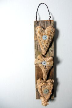 Shabby Meets PRIMITIVE VALENTINE Wall Hanging  by RHYMEABILLY, $24.99