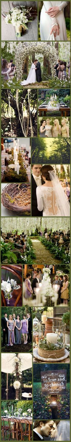 Twilight Inspiration Board...my dream wedding...marrying the same man a second time- but officially our first wedding...