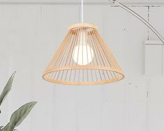 Natural design just for natural life. by WalmHomie on Etsy Rattan Light Fixture, Rattan Pendant Light, Pendant Lamp, Light Fixtures, Bar Lighting, Pendant Lighting, Chinese Lanterns, Chandelier Lamp, Home Decor Shops