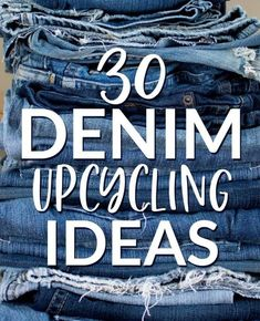 30 Denim Upcycling Ideas Using Old Jeans - Diy gifts - Artisanats Denim, Denim Rug, Jeans Fabric, Denim Quilts, Blue Jean Quilts, Denim Style, Denim Backpack, Denim Purse, Diy Jeans