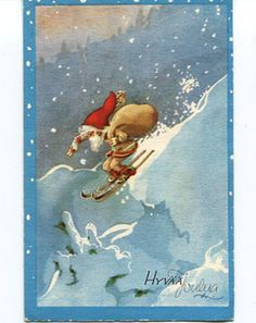 Divari Kangas New Year Card, Christmas And New Year, Holidays And Events, Fairy, Baseball Cards, Pattern, Painting, Decor, Decorating