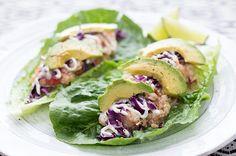 skinny tilapia lettuce wraps