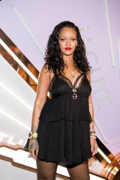 Rihanna attends the 'Savage X Fenty' lingerie launch on May 10, 2018 in New York City
