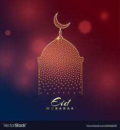 Creative mosque design for eid mubarak festival vector image on VectorStock Eid Mubarak Greeting Cards, Eid Mubarak Greetings, Eid Mubarak Wallpaper, Eid Mubarak Background, Muslim Greeting, Eid Mubark, Happy Diwali Images, Ramadan, Cute Love Cartoons