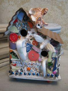Kelly Aaron - Mosaic Birdhouse