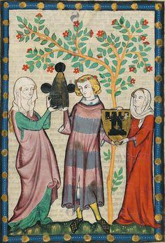 14th century (ca. 1300-1340) Switzerland - Zürich Heidelberg, Ruprecht-Karls-Universität, Universitätsbibliothek Cod. Pal. germ. 848: Große Heidelberger Liederhandschrift = Codex Manesse fol. 194r -...