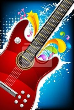 Doodle musical instruments Wall Mural • Pixers® • We live ...