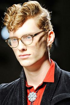 men fashion hair men Ducktail styling