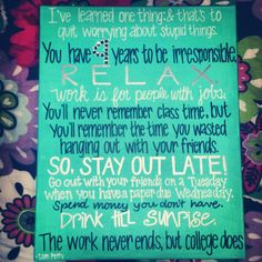 College Quote by Tom Petty on Painted Canvas. by SignsByShawna, $25.00