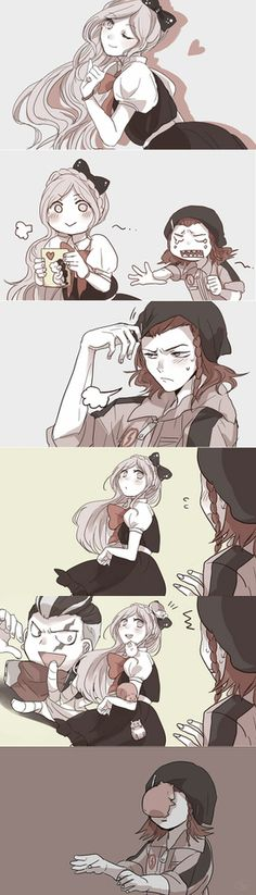Awwww - Sonia Nevermind - kazuichi souda - SDR2 - Gundam Tanaka - Gud art - face characters - good characters