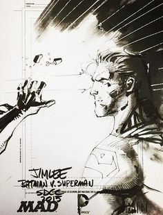 Batman v Superman sketch | Jim Lee