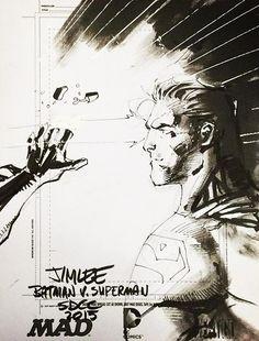 Batman v Superman sketch | Jim Lee