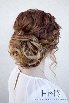 Ombre-Hair-Updo-for-Prom - Frisuren Party Hairstyles For Girls, Grad Hairstyles, Homecoming Hairstyles, Pretty Hairstyles, Wedding Hairstyles, Bridal Hairstyle, Prom Updo, Short Hairstyles, Up Dos For Medium Hair