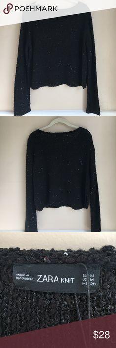 Zara Knit Sequin Sweater. New with Tags Zara Knit Sequin Sweater. Size medium. New with Tags. Zara Sweaters
