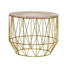 Soffbord runt guld / beige marmor - Bloomingville - Reforma Sthlm 2495:-