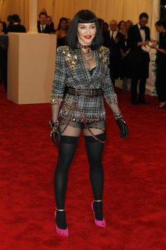 Madonna in Riccardo Tisci at the 2013 Met Gala.