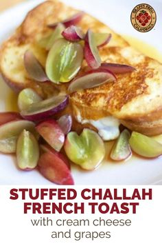 Here's how to make classic, stuffed French toast that's fluffy and crispy for one, for two, or for a crowd.  Follow this easy breakfast recipe with ingredients like Challah bread and cream cheese, and toppings like grapes from California and maple syrup.  #easy #recipe #stuffed #best #forone #breakfast #fortwo #classic #creamcheese #Challah #toppings #crispy #fluffy #stuffedFrenchtoast #stuffedFrenchtoastcreamcheese #Frenchtoast #Frenchtoastrecipe #Frenchtoasteasy Bread Pudding With Croissants, Bread Puddings, Pain Perdu Simple, Challah French Toast, Sicilian Recipes, Sicilian Food, Breakfast Recipes, Dinner Recipes, Grape Recipes