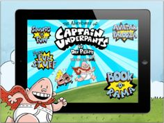 Adventure of Captain Underpants App - book and games for elementary kids from Scholastic.  #book #kids #apps #education
