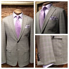 Custom Summer Sport Coat with Patch Pockets, Top Stitching, and Contrast Color Functional Buttonholes