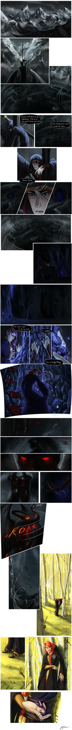 The angbang ship hasn't speculated on the origin of Mairon and Melkor's relationship too much, so I'm exploring it here in this continuing strip. Enjoy! Edit: Unfortunately I decided to finally qui...