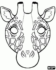 Giraffe mask coloring page - Lots of coloring pages here!