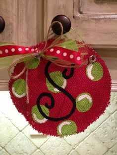 Burlap Christmas Ornaments | Burlap Christmas Ornament - I could use these as gift tags ... | Seas ...